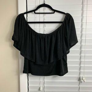 Fashion nova off shoulder crop top